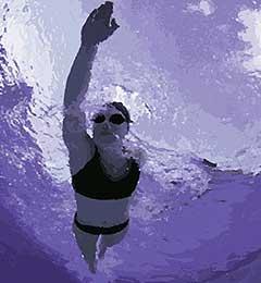 nadar Nadando con la onda.
