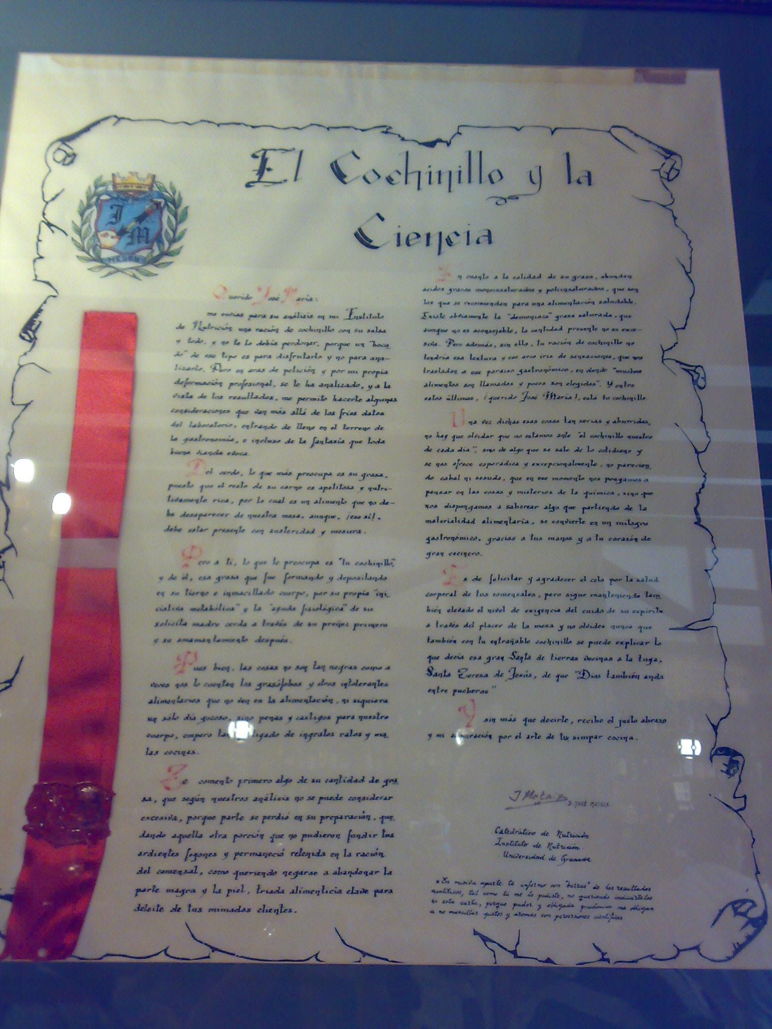 12072009781 El cochinillo y la Ciencia.