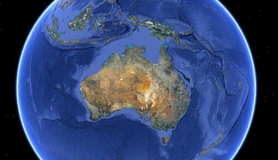 australia En las antípodas con Bill Bryson y Google Earth.