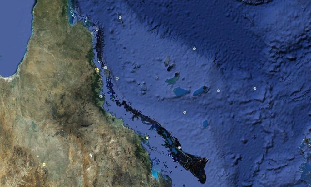 gran barrera australiana En las antípodas con Bill Bryson y Google Earth.