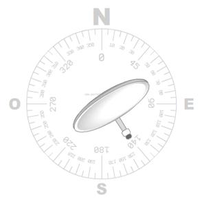 azimut ¿Cómo orientarse mirando una antena parabólica?