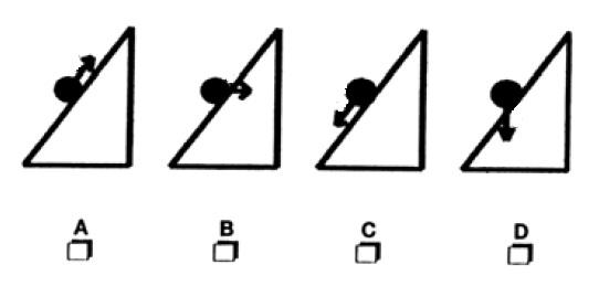planos inclinados1 20 cuestiones (más) para saber si alguien sabe física sin cálculos.