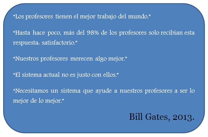Bill Gates Bill Gates: Los profesores necesitan retroalimentación real (TED).
