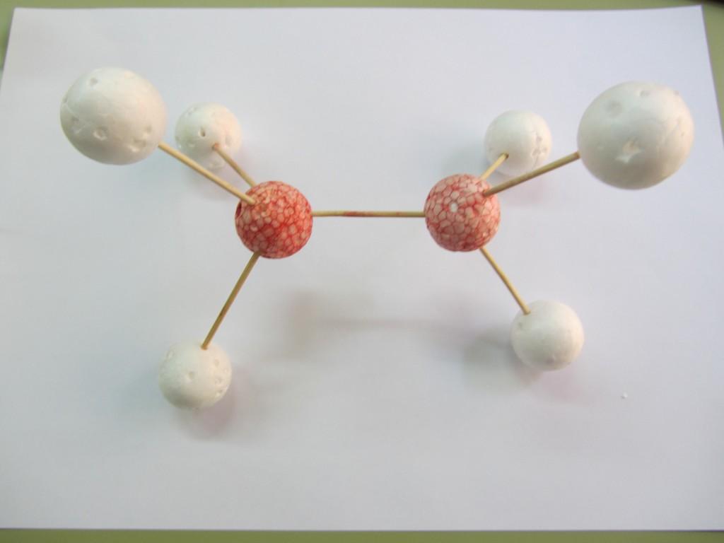 etano 3d 1024x768 Menos es más: modelos de bolitas y palillos (de dientes) para hacer moléculas en 3º de la ESO.