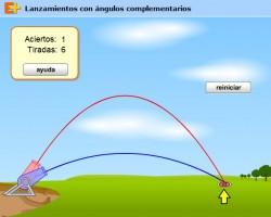 tiro parabólico ángulos complementarios 250x200 Ángulos complementarios con una manguera.