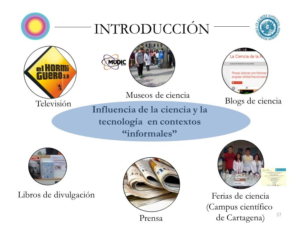 contextos informales El día que presenté mi tesis sobre divulgación científica.
