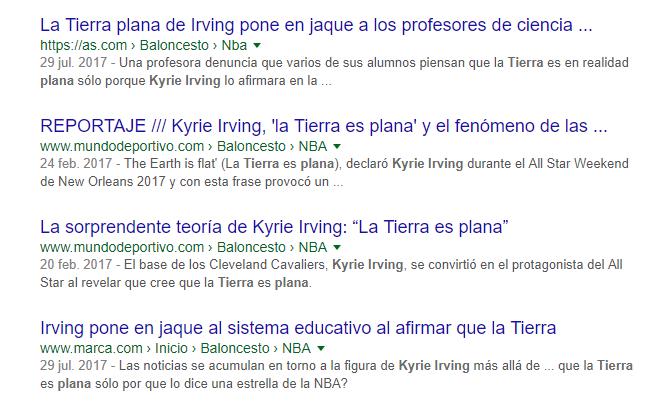 Kyrie Irving tierra plana Quique Peinado, Kyrie Irving, la Tierra plana, Copérnico, los periodistas, las encuestas de cultura científica y la enseñanza de la ciencia.