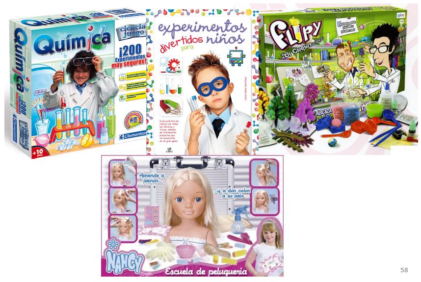 juegos ciencia La igualdad en los juegos infantiles de ciencia.