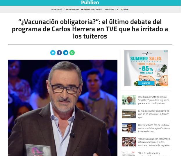 autismo Carlos Herrera Niveles de incultura científica en los medios de comunicación: una clasificación personal.